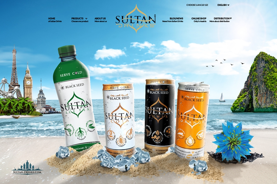 Sultan Drinks Webdesign